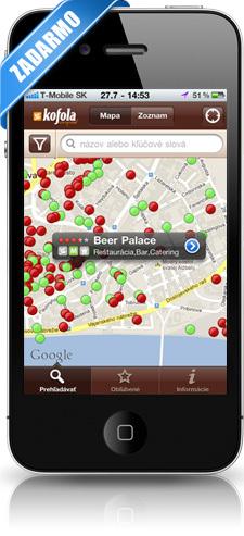Obrázky aplikácie Reštaurácie SME pre iPhone a Android