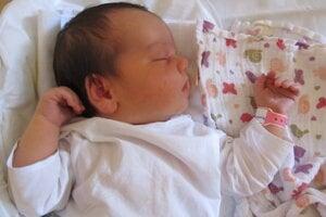 Alexandra Šebová (53 cm, 4200 g) sa narodila 16. augusta Ivane a Jurajovi z Kozároviec.