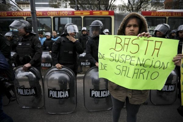 Protest v Buenos Aires.