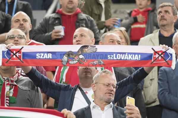 Počas zápasu zneli urážlivé protislovenské heslá a došlo k hanobeniu štátnych symbolov.