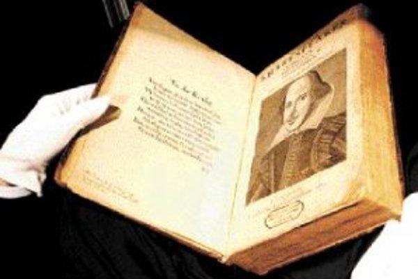 Vzácne vydanie Shakespearových hier z roku 1623.
