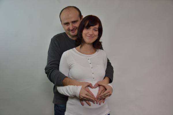 angela s michalom v období tehotenstva