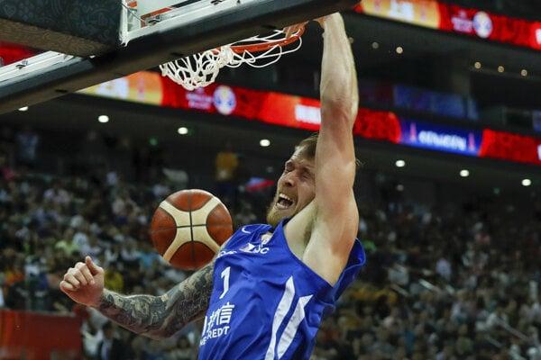 Český reprezentant Patrik Auda na MS v basketbale 2019 v Číne.