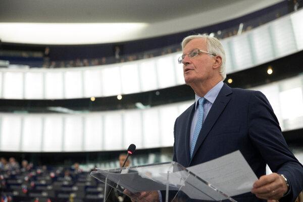 Hlavný vyjednávač Únie pre brexit Michel Barnier.