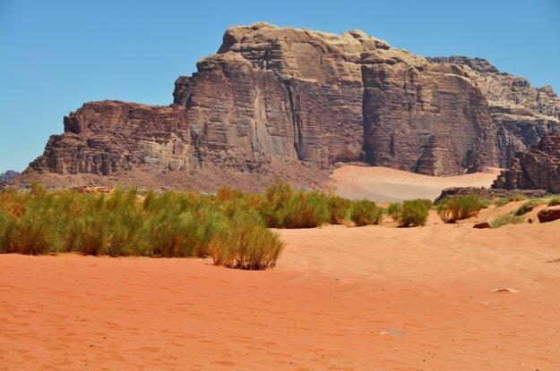 Wadi Rum je najkrajšou púšťou na Blízkom Východe