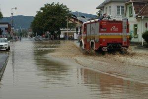 Povodeň 15. augusta 2010 v Prievidzi.