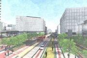 Náčrt okolia projektu Eurovea od architektky Beth Galí.