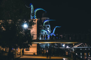 Biela noc v Bratislave.
