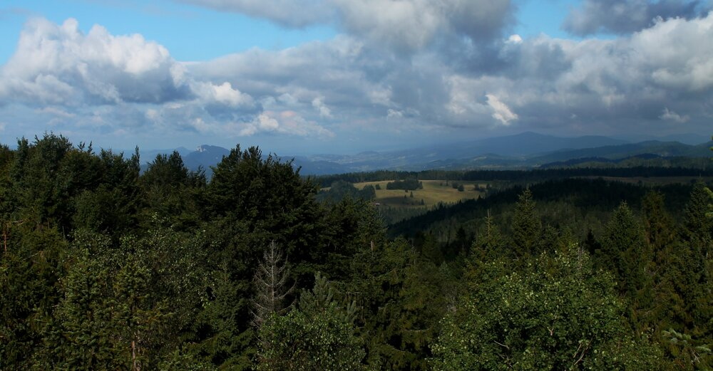 Z Eliášovky na severozápad - Tri Koruny, Turbacz.