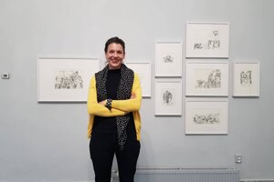 Katarína Slaninková v týchto dňoch vystavuje aj v Banskej Štiavnici.