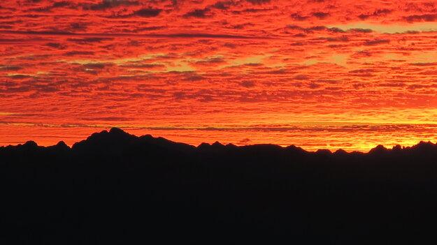 Východ slnka v Brente.