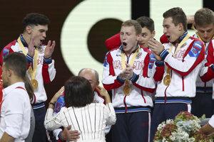 Radosť ruských gymnastov.