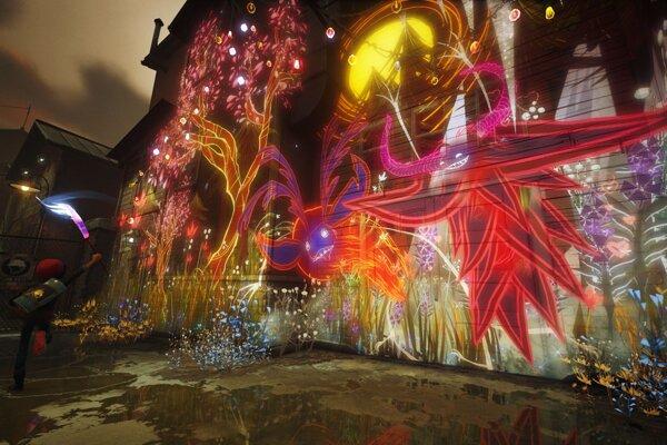 Nepohyblivý obrázok nezachytí, ako úžasne vyzerajú živé pomaľované steny v hre.