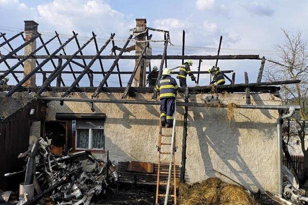 Požiar rodinného domu v Skalitom.