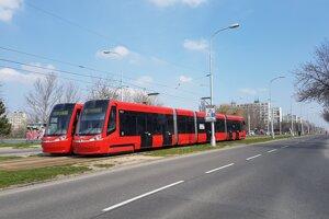 Električková trať do Ružinova.