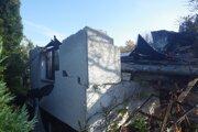 Zbúraná chatka v Prešove.