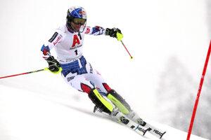 Francúzsky slalomár Alexis Pinturault na trati 1. kola slalomu SP mužov v rakúskom Kitzbüheli 26. januára 2019.