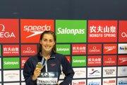 Nikoleta Trníková s bronzovou medailou na Svetovom pohári v Berlíne.