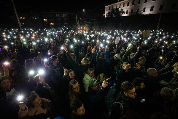 Pochod iniciatívy Za slušné Slovensko podporili tisíce ľudí