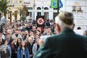 Protestné zhromaždenie sa uskutočnilo nedávno aj v Trenčíne.