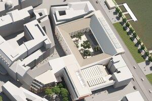 Pohľad na areál z vtáčej perspektívy vrátane IV. etapy plánovanej do budúcnosti .