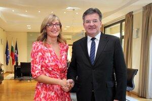 Miroslav Lajčák a bulharská vicepremiérka a ministerka zahraničných vecí Ekaterina Zacharievová.