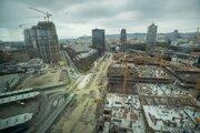 Pohľad na novovznikajúcu štvrť v Bratislave.