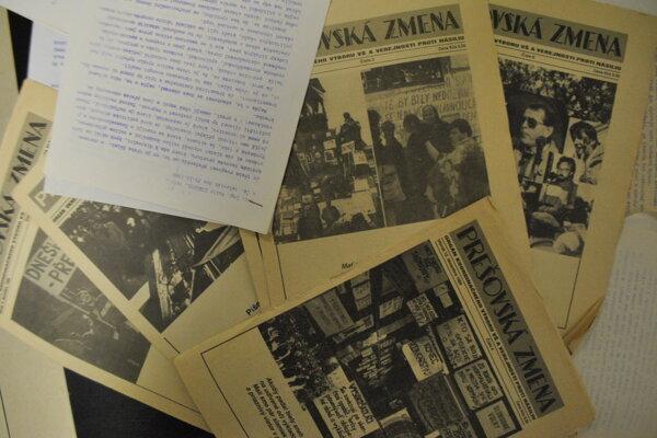 Prešovská zmena a letáky z roku 1989.
