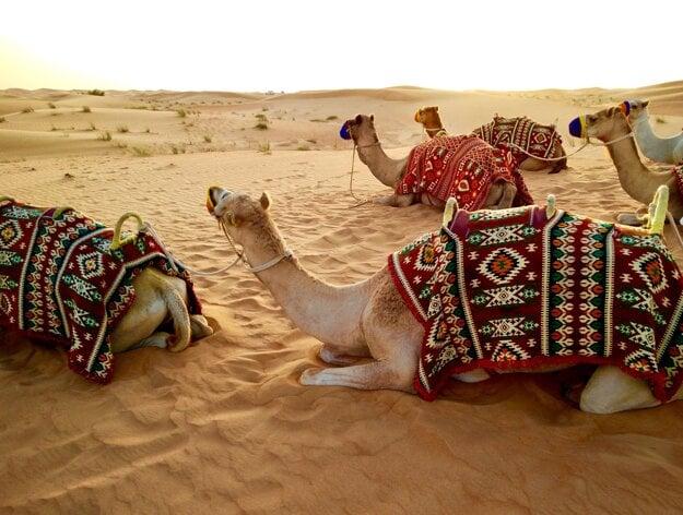 Púšť v okolí Emirátov