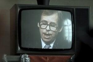 Prejav prezidenta Havla vo filme Amnestie.