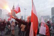 Pochod vo Varšave.