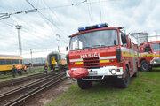 Zásah hasičov na stanici.