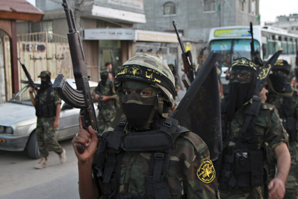 Militanti z hnutia Islamský džihád.