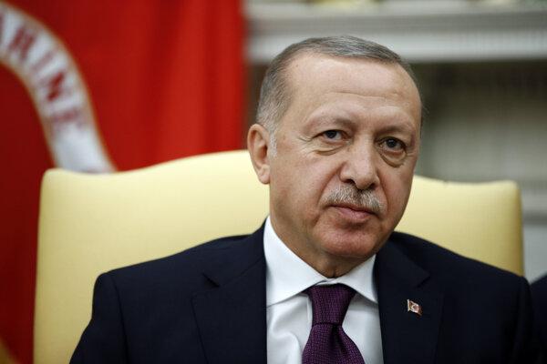 Erdogan v Bielom dome.