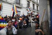 Demonštrácie v Bolívii.