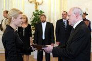Sudkyňa Miriam Repáková pri menovaní do funkcie v roku 2010.