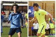 Dvojica zKrásna nad Kysucou Kamil Koleno (vpravo) aKristián Gábor odmala naháňala loptu pred bytovkou. Dnes hrajú tretiu ligu vo futbale za domáci Tatran afutsalovú extraligu za MŠK Žilina.