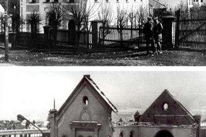 V Čadci zbúrali synagógu a nahradila ju budova Okresného výboru komunistickej strany.