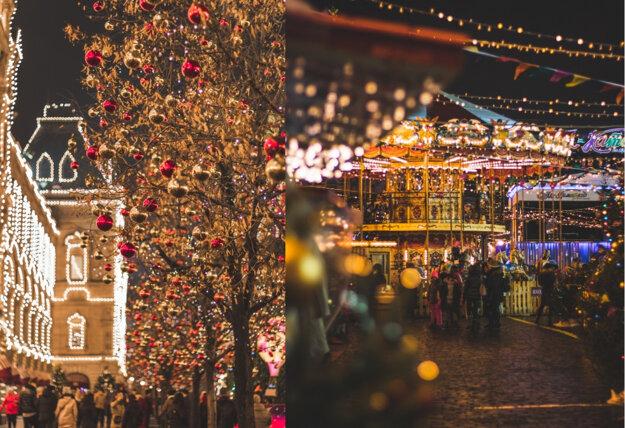 Vianočná atmosféra v Moskve