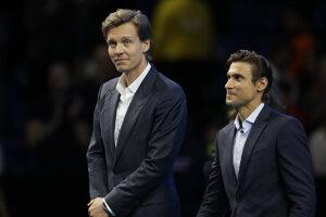 Tomáš Berdych (vľavo).