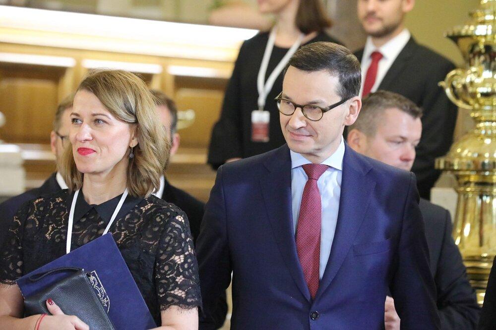 Poľský premiér Mateusz Morawiecki v Prahe.