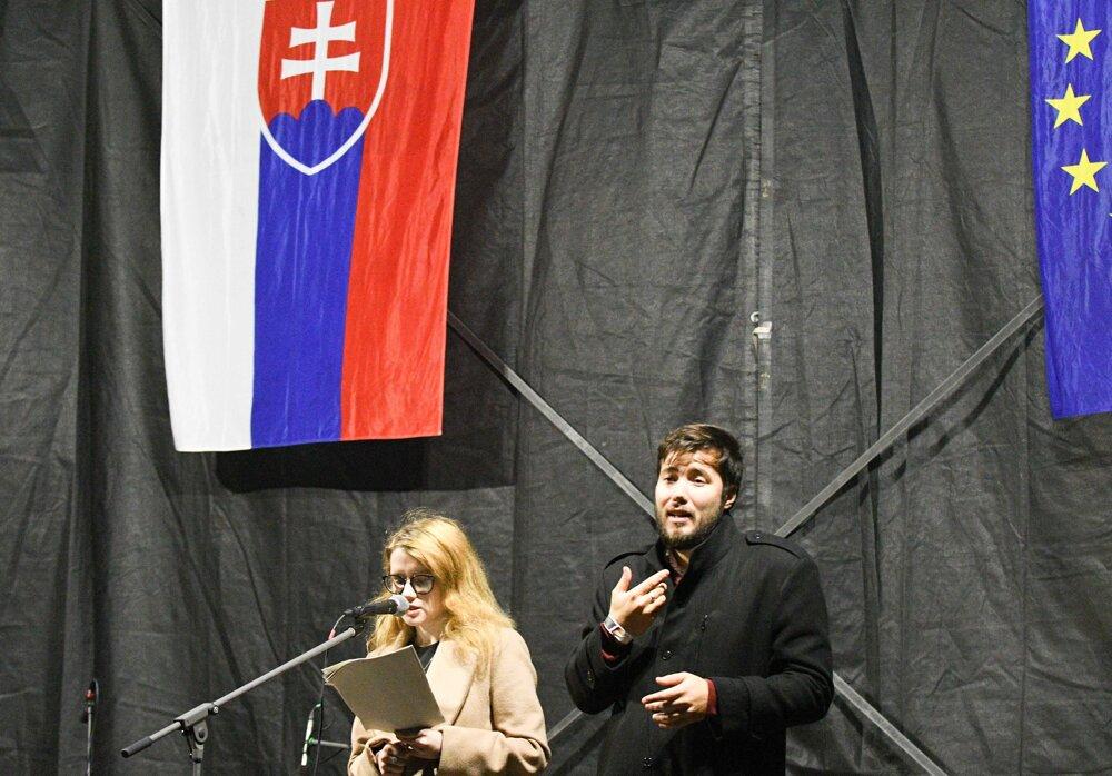 Karolína Farská z iniciatívy Za slušné Slovensko.