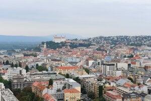 Pohľad na bratislavské Staré Mesto.