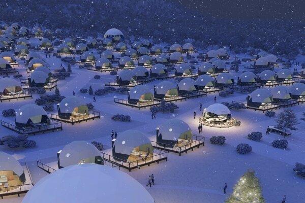 Vizualizácia projektu Šírava Park.