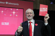 Radikálny socialistický plán pre Britániu predstavil predseda strany Jeremy Corbyn.