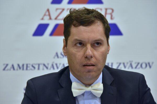 Viceprezident Asociácie zamestnávateľských zväzov a združení SR Rastislav Machunka.