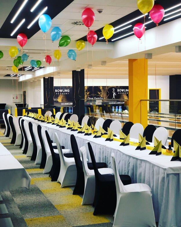 Priestory Bowling Academy sú vhodné na rôzne oslavy, teambuildingy či firemné školenia.