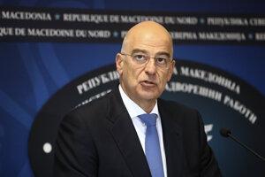 Grécky minister zahraničia Nikos Dendias.