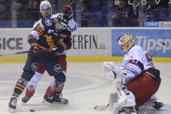 Košickí hokejisti zdolali doma Zvolen a upevnili si tretiu priečku v tabuľke.