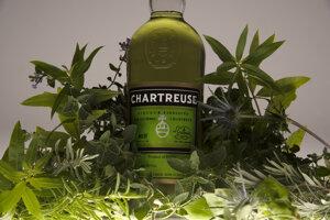 """Kartuziáni stovky rokov upravovali recept na """"elixír dlhého života"""" a vytvorili recept na Chartreuse. Alkoholická verzia sa objavila až v polovici 19. storočia. Byliny na obrázku sú len odhadované zložky. Presný recept pozná len zopár mníchov."""